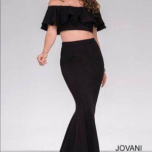 Black 2 piece jovani dress- size 6 NWT